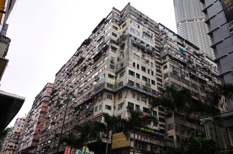View of Chungking Mansions from Nathan Road - image source: World Super Travel