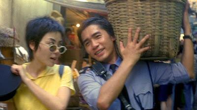Faye Wong and Tony Chiu Wai Leung in CHUNGKING EXPRESS.