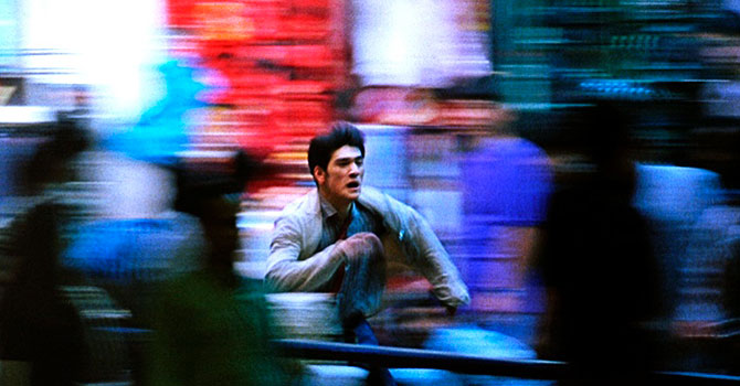 Takeshi Kaneshiro in a still from CHUNGKING EXPRESS