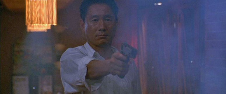 """'Beat' Takeshi"" as Murakawa in SONATINE (1993) -- image source: RogerEbert.com"