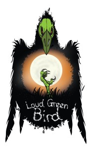 LOUD GREEN BIRD logo (c) 2016 - created by Palko Designs LLC