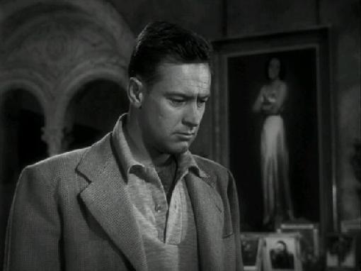 William Holden as failed screenwriter Joe Gillis in SUNSET BOULEVARD (1950)