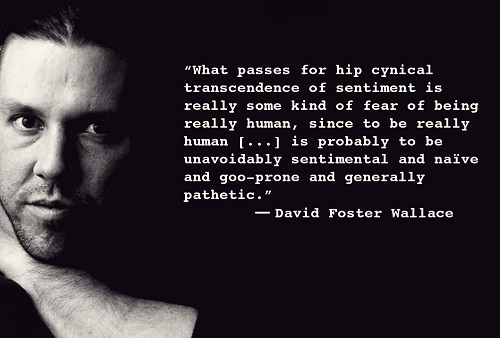 Quote from David Foster Wallace - image source: Tinsel & Tine
