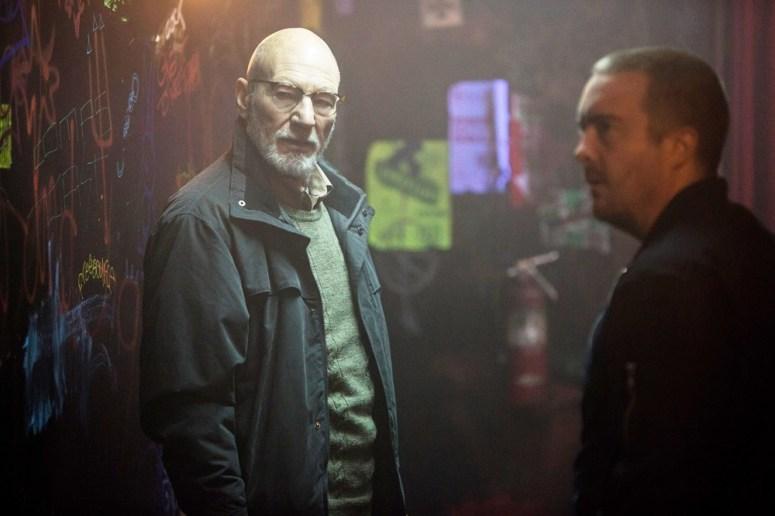 Patrick Steward and Macon Blair star in GREEN ROOM (2015)