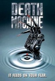 Detail from theatrical poster for DEATH MACHINE (1994)