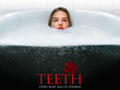 Detail from the theatrical poster for TEETH (2007)