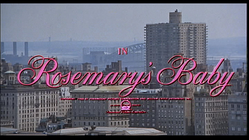 Title card for ROSEMARY'S BABY