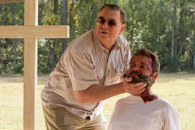 Still from THE SACRAMENT, a horror film about a dangerous cult