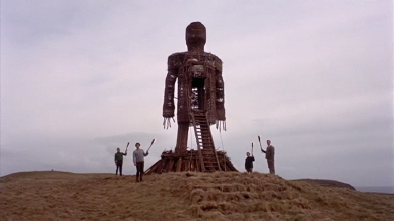Waiting to light the cultic icon in THE WICKER MAN (1973) - image source: Horror Freak News