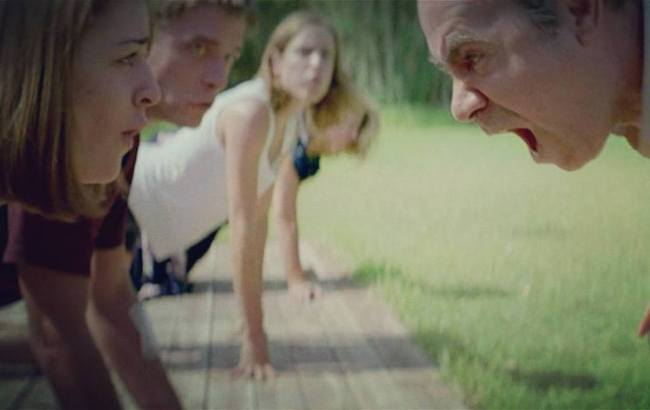 "The ""barking dog"" scene from DOGTOOTH"