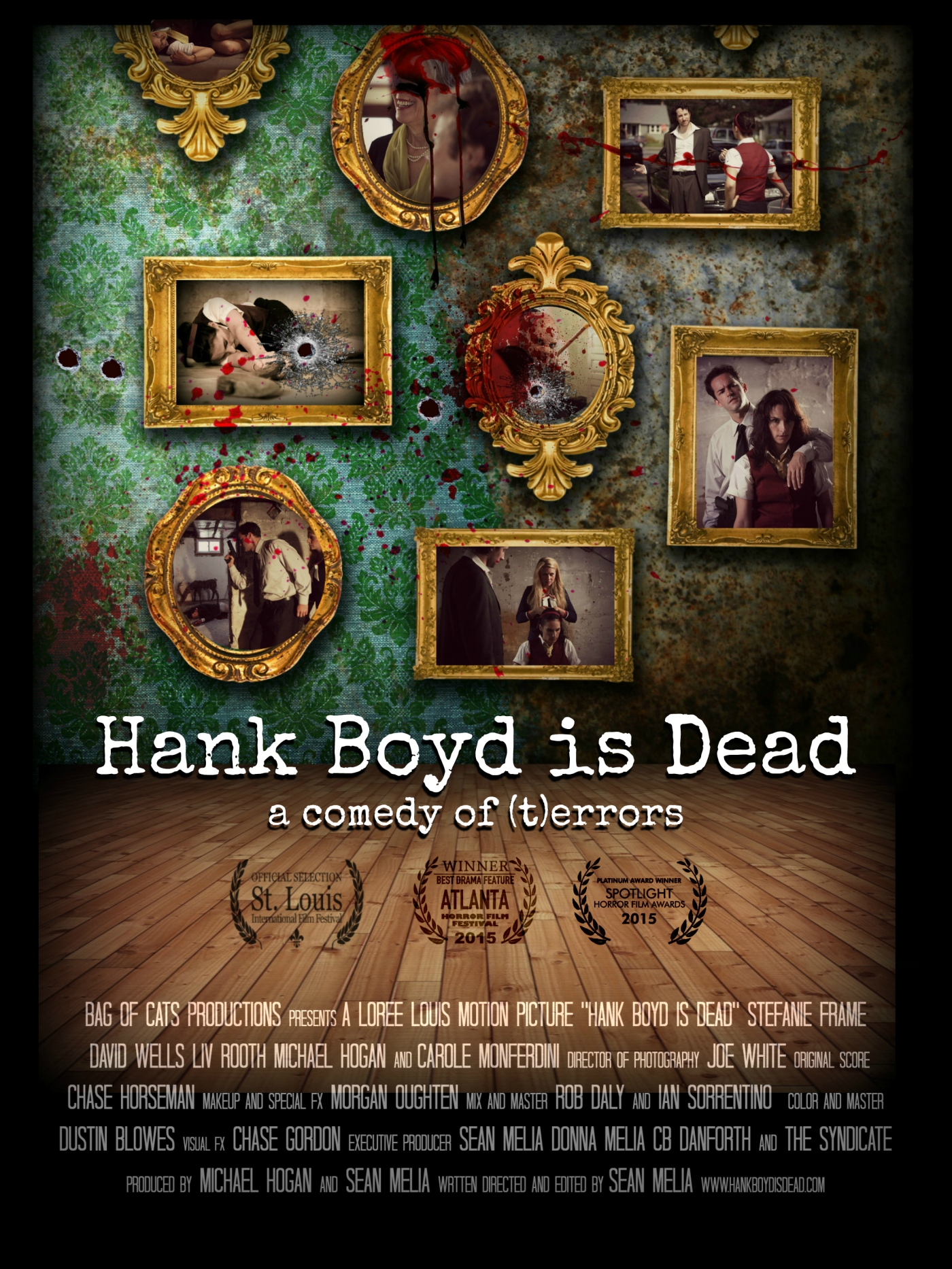 Official theatrical poster for HANK BOYD IS DEAD