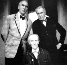 Christopher Lee, Peter Cushing, and Vincent Price