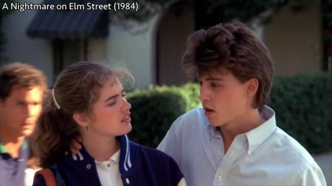Johnny Depp in NIGHTMARE ON ELM STREET (1984)