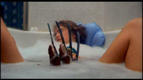 Freddy and Nancy in the bathtub