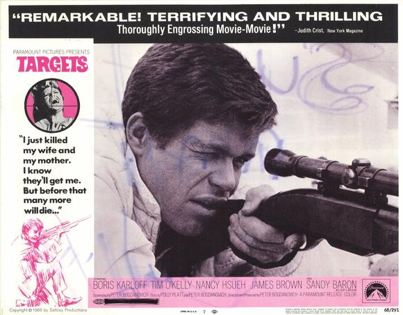 Lobby card for TARGETS (1968)